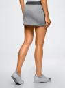 Юбка трикотажная на эластичном поясе oodji для женщины (серый), 14101098B/46155/2025B