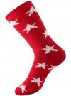 Носки махровые с принтом oodji #SECTION_NAME# (красный), 57102444/45842/4512G - вид 2