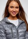 Куртка удлиненная с асимметричным низом oodji #SECTION_NAME# (серый), 10203056-2B/42257/2510G - вид 4