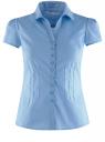 Блузка принтованная из легкой ткани oodji #SECTION_NAME# (синий), 21407022-9/12836/7510D