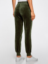Брюки спортивные на завязках oodji для женщины (зеленый), 16701052B/47883/6800N