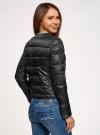 Куртка стеганая с круглым вырезом oodji для женщины (черный), 10203050-2B/47020/2900N - вид 3