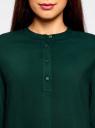 Блузка вискозная А-образного силуэта oodji #SECTION_NAME# (зеленый), 21411113B/26346/6900N - вид 4