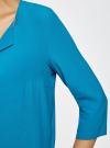 Блузка прямого силуэта с украшением oodji #SECTION_NAME# (бирюзовый), 21404021/43281/7300N - вид 5