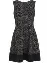 Трикотажное платье oodji для женщины (черный), 14015002/45100/2920A