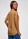 Топ вискозный с рубашечным воротником oodji для женщины (желтый), 14911009B/26346/5743E