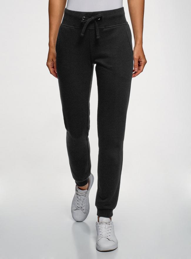 Комплект трикотажных брюк (2 пары) oodji #SECTION_NAME# (черный), 16700030-15T2/46173/2900N