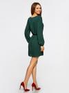 Платье из шифона с ремнем oodji для женщины (зеленый), 11900150-5B/32823/6900N - вид 3