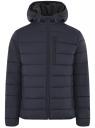 Куртка стеганая с капюшоном oodji #SECTION_NAME# (синий), 1B112027M/33743/7900N