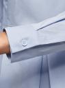 Блузка хлопковая с баской oodji #SECTION_NAME# (синий), 13K00001-1B/42083/7000N - вид 5
