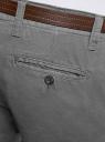 Брюки-чиносы с ремнем oodji #SECTION_NAME# (серый), 2B150022M/25735N/2300N - вид 5