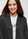 Кардиган без застежки с накладными карманами oodji для женщины (серый), 63212600/48514/2500M - вид 4