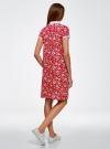 Платье-поло из ткани пике oodji #SECTION_NAME# (красный), 24001118-2/47005/4C10E - вид 3