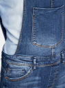 Комбинезон джинсовый с нагрудным карманом oodji #SECTION_NAME# (синий), 13108004/45379/7900W - вид 5
