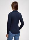 Рубашка базовая из хлопка oodji #SECTION_NAME# (синий), 11403222/42468/7900N - вид 3