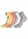 Комплект из шести пар носков oodji для женщины (разноцветный), 57102814T6/47469/6 - вид 2
