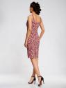 Платье-майка трикотажное oodji #SECTION_NAME# (розовый), 14015007-3B/37809/4110F - вид 3