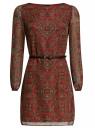 Платье из шифона с ремнем oodji #SECTION_NAME# (красный), 11900150-5/13632/4533E