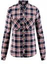 Блузка вискозная с заклепками на карманах oodji для женщины (синий), 13L01001/47352/7930C