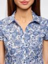 Блузка принтованная из легкой ткани oodji #SECTION_NAME# (слоновая кость), 21407022-9/12836/3075E - вид 4