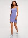 Платье-майка трикотажное облегающее oodji #SECTION_NAME# (фиолетовый), 14001210/48152/8001N - вид 6