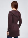 Кардиган с поясом и накладными карманами oodji для женщины (фиолетовый), 63212601/43755/8800M - вид 3
