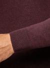 Пуловер базовый с V-образным вырезом oodji #SECTION_NAME# (красный), 4B212007M-1/34390N/4900M - вид 5