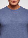 Джемпер базовый с круглым воротом oodji #SECTION_NAME# (синий), 4B112008M/25545N/7500M - вид 4