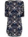 Платье принтованное прямого силуэта oodji #SECTION_NAME# (синий), 21900322-1/42913/7919F