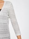 Кардиган длинный ажурной вязки oodji для женщины (белый), 73212395/19580/1200N