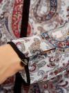 Блузка из струящейся ткани с контрастной отделкой oodji #SECTION_NAME# (разноцветный), 11411059-2/38375/3045E - вид 5