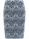 Юбка-карандаш на молнии oodji для женщины (синий), 14101088-2/46461/7923J