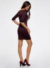 Платье жаккардовое с геометрическим узором oodji #SECTION_NAME# (фиолетовый), 14001064-6/35468/2949J - вид 3