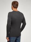 Пуловер базовый с V-образным вырезом oodji для мужчины (серый), 4B212007M-1/34390N/2500M - вид 3