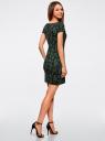 Платье трикотажное с принтом oodji #SECTION_NAME# (черный), 14001117-2/16564/2962E - вид 3