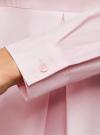 Блузка хлопковая с баской oodji #SECTION_NAME# (розовый), 13K00001-1B/42083/4000N - вид 5