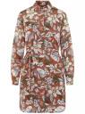 Платье из струящейся ткани с поясом oodji для женщины (красный), 11911037/17358/3112F