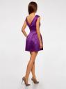 Платье приталенное с V-образным вырезом на спине oodji #SECTION_NAME# (фиолетовый), 12C02005/24393/8301N - вид 3