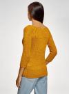 Джемпер базовый с вырезом-лодочкой oodji #SECTION_NAME# (желтый), 63803046-5B/48953/5700N - вид 3