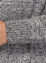 Кардиган меланжевый с капюшоном oodji для женщины (белый), 63207195/49408/1229M
