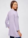 Кардиган без застежки с карманами oodji #SECTION_NAME# (фиолетовый), 73212397B/45904/8000M - вид 3