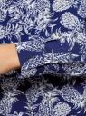 Блузка вискозная А-образного силуэта oodji для женщины (синий), 21411113B/26346/7930O