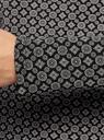 Блузка прямого силуэта с вырезом-капелькой на спине oodji #SECTION_NAME# (черный), 24201026/17482/2930G - вид 5