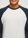 Свитшот хлопковый с контрастными рукавами oodji #SECTION_NAME# (белый), 5B114031M/48820N/1279N - вид 4