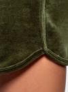 Шорты хлопковые на завязках oodji #SECTION_NAME# (зеленый), 17000024B/48006/6800N - вид 4