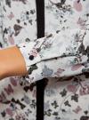 Блузка из струящейся ткани с контрастной отделкой oodji #SECTION_NAME# (белый), 11411059/43414/124AU - вид 5