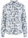 Блузка базовая из вискозы oodji #SECTION_NAME# (белый), 11411136B/26346/1279O