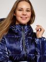 Куртка стеганая с капюшоном oodji для женщины (синий), 10203076-4/50279/7979N