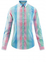 Блузка клетчатая прямого силуэта oodji #SECTION_NAME# (разноцветный), 11411131/46090/4165C