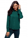Блузка базовая из вискозы oodji #SECTION_NAME# (зеленый), 11411136B/26346/6E02N - вид 2